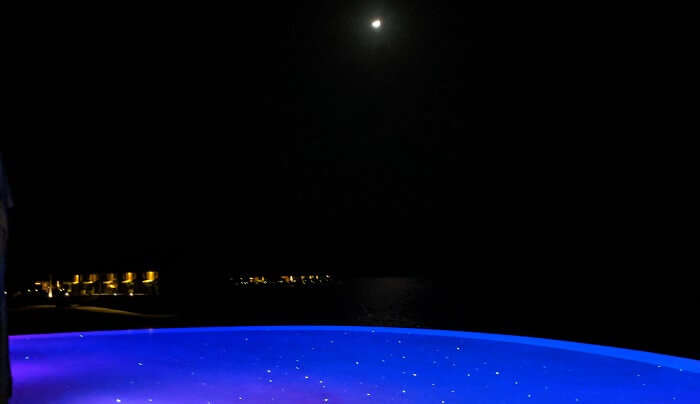 mesmerizing night view of the villa