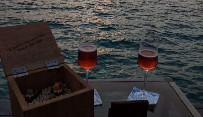 savoring the wide range of cocktails
