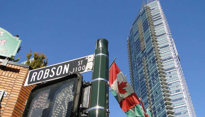 Robson Street And Alberni Street