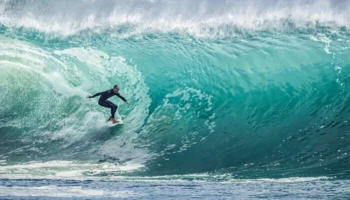 Surfing At Kodi Bengre