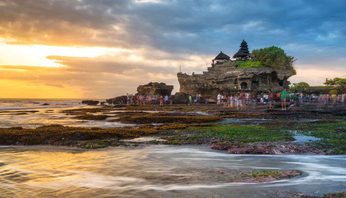Watch The Sunset At Tanah Lot