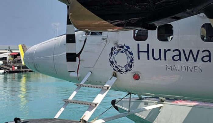 seaplane ride to reach the island