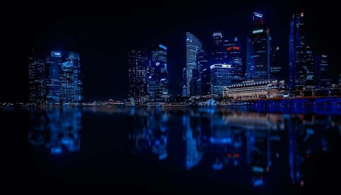 Singapore during the night
