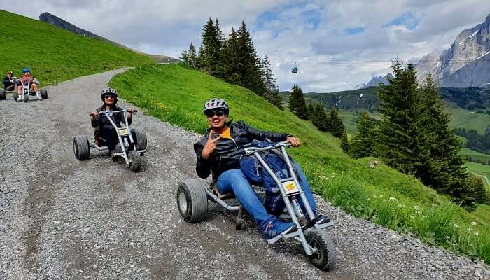 ride to the mountain valley