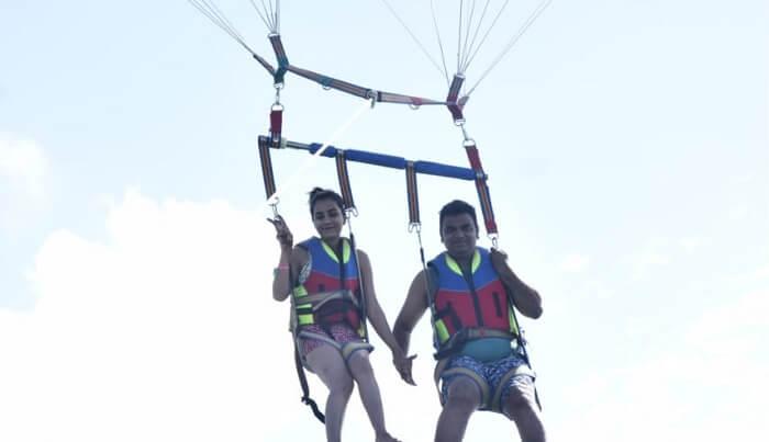 enjoyed the parasailing