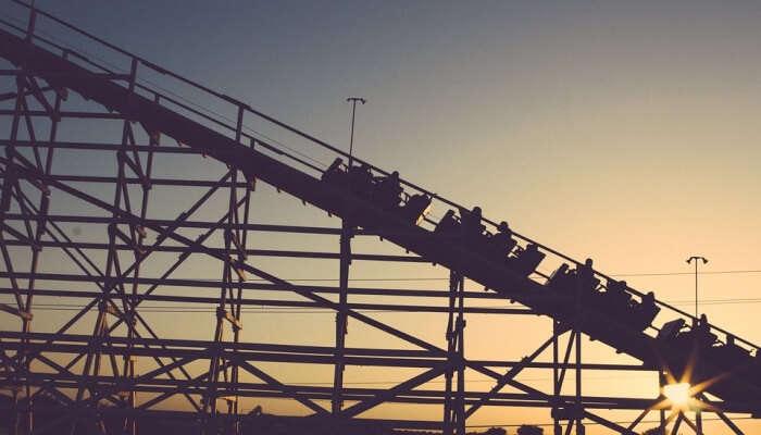 roller coaster ride silhouette