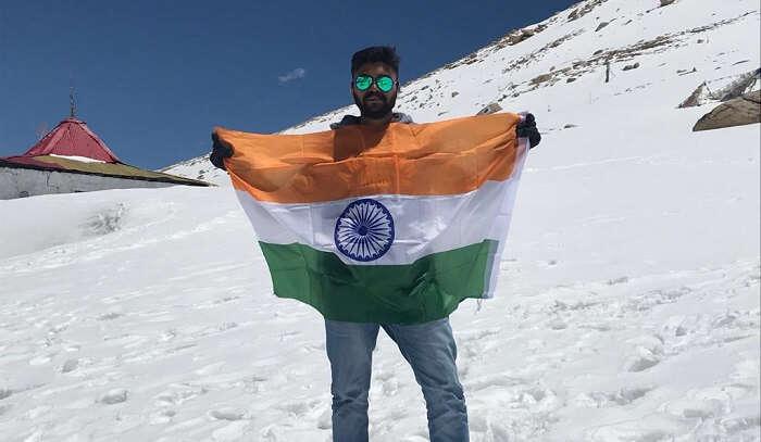 opportunity to hoist flag on hill