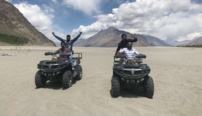 atv ride at nubra valley