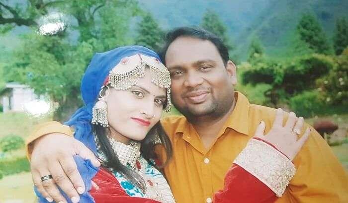 dressed in kashmiri attire