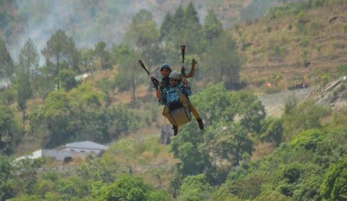 a memorable experience of paragliding