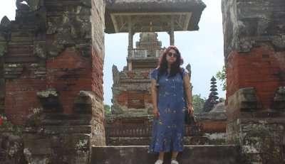 exploring the temple area