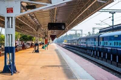 Indian railway station in the morning