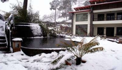 resort view during winters