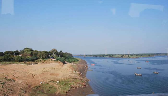 A view of Narmada river