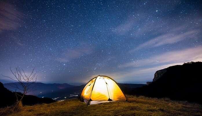 Camping in night