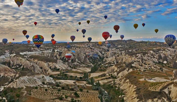 Colorful Parachutes