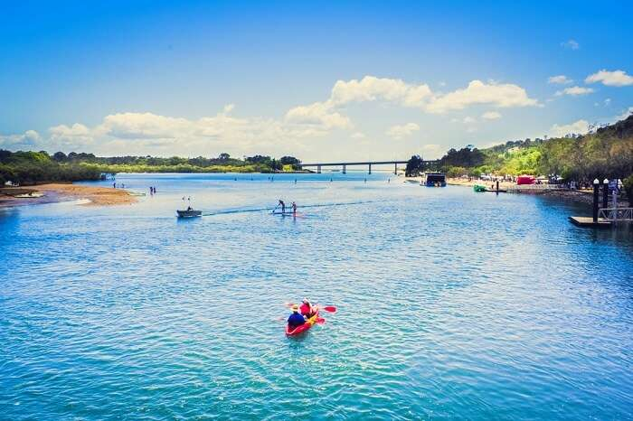 People kayaking in Queensland