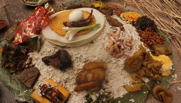 Platter Of Nepalese Food