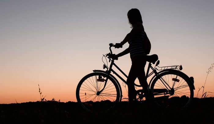 Cycling Ride in Evening