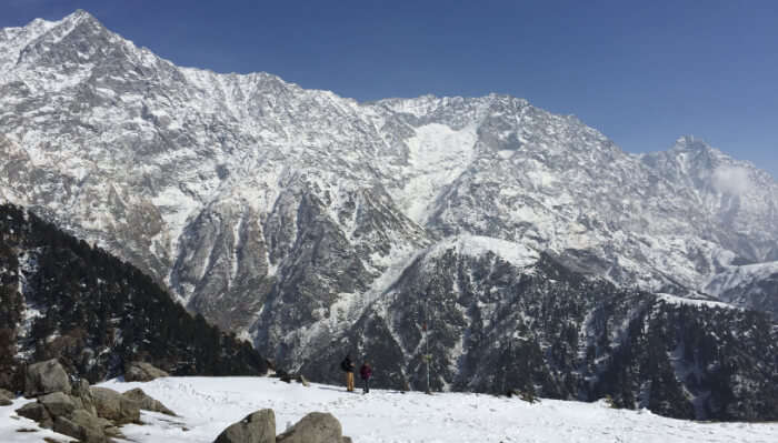 Triund view in winters