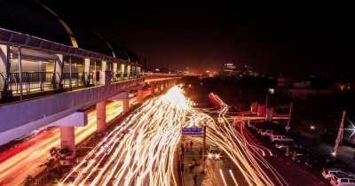 Night view of Gurgaon og