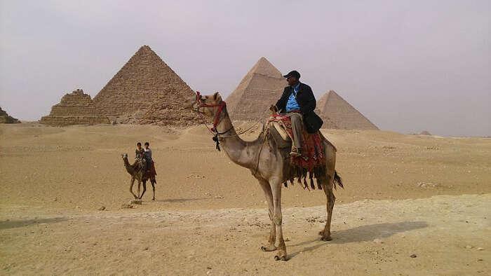 Camel Riding in Giza