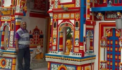 visited to the replica Hindu temples