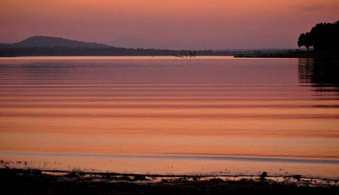 Kabini River is a major source for boating along the backwaters
