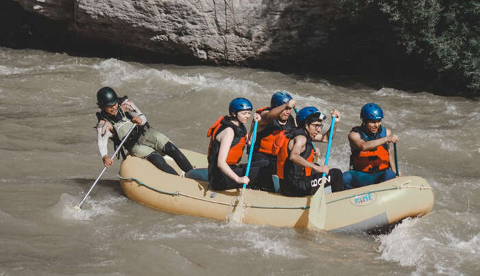 Lake Rafting with Friends
