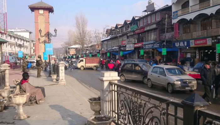 Lal Chowk In Srinagar
