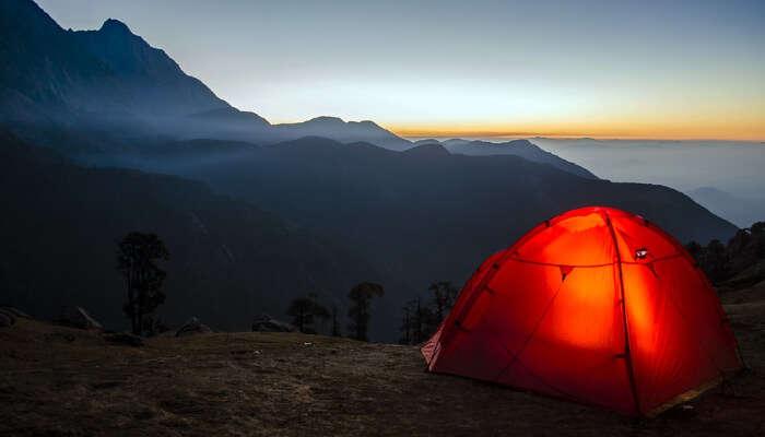 Mountain Camping in Peak