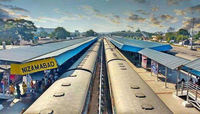 Nizamabad Railway station in Telangana