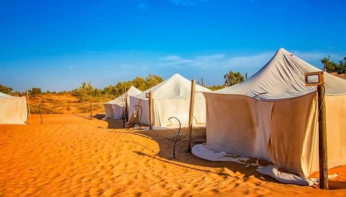small desert camp