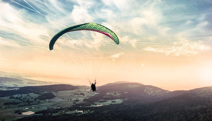 Paraglider in Air