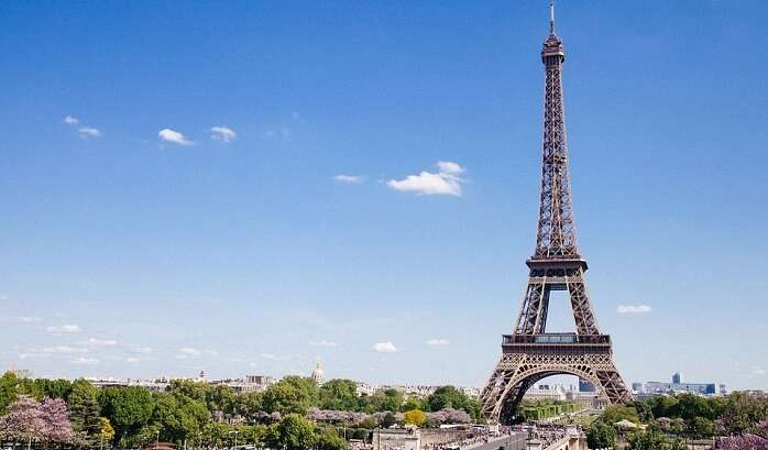 wondering at the beauty of the Eiffel Tower in Paris