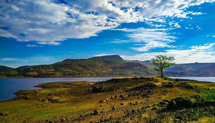 Beautiful View of Nature  from Pawna Lake