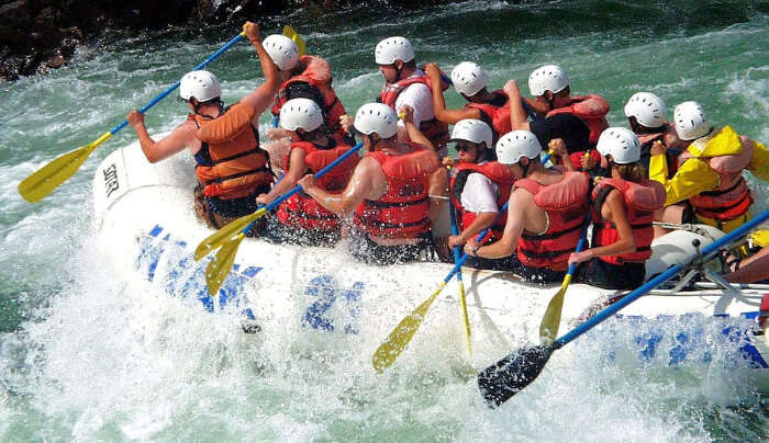 River Rafting in White Water
