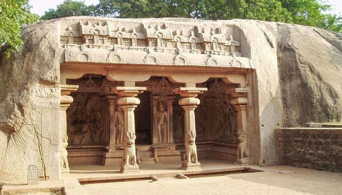 Cave Temple Porch View