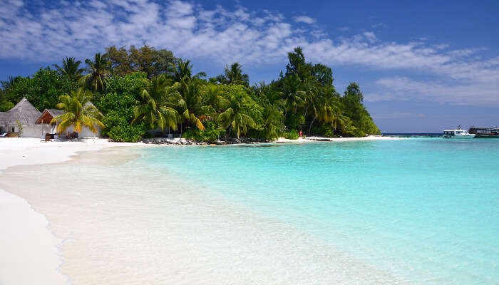 clear weather view of maldives