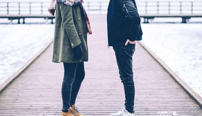 Couple in Winter Wears