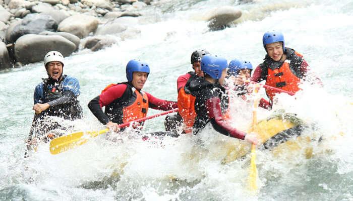 River Rafting in Monsoon Season