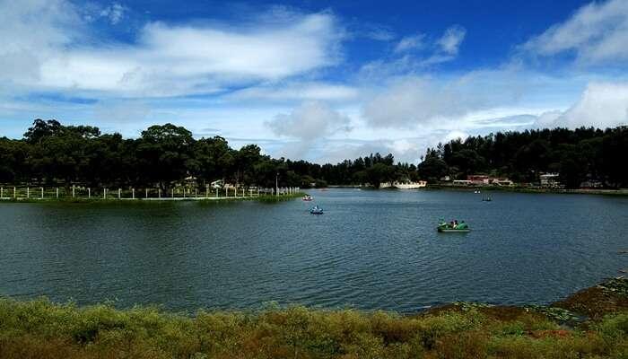 lake view of yercaud lake