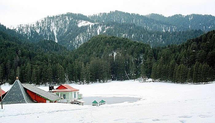 Beautiful Snowfall In Khajjiar