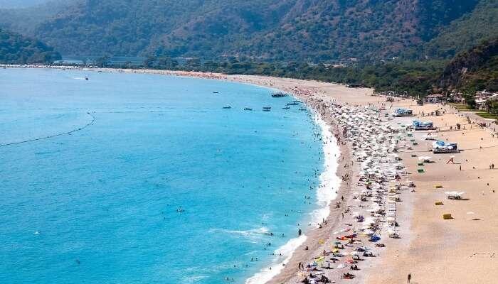 beach aerial view