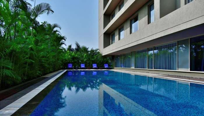 swimming pool in a property