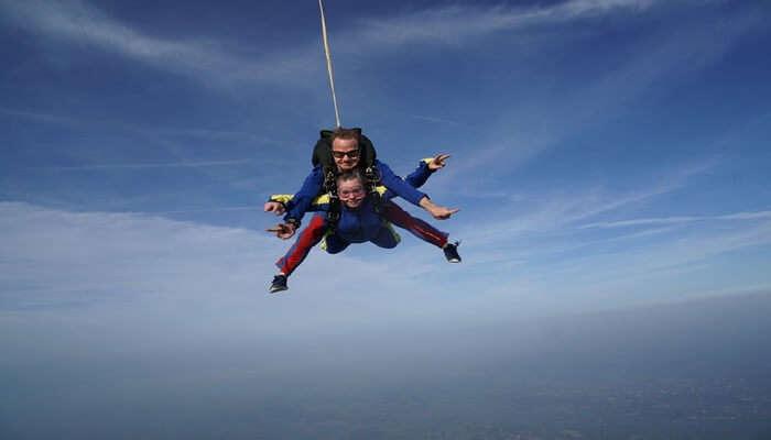 Skydiving In Sky