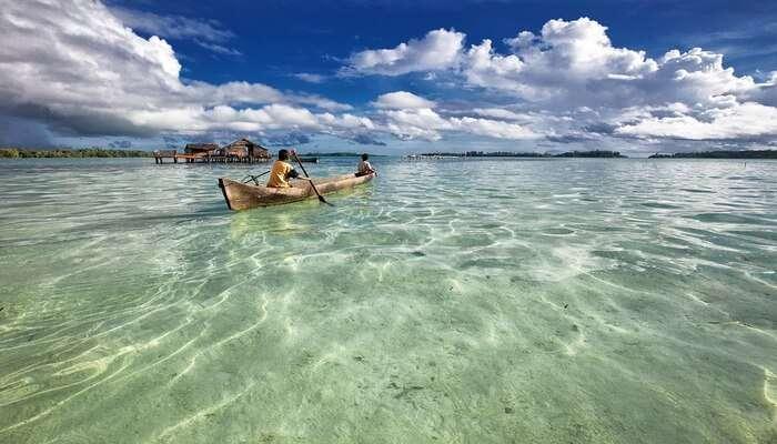 Canoeing At Minicoy Island