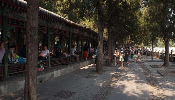 Changlang (Long Gallery) - Summer Palace - Beijing, China, 27.8.2014