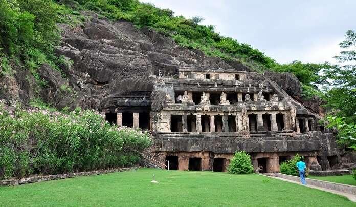 Intricate Undavalli Caves