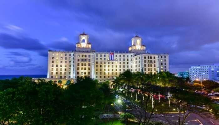 Mesmerising view of the Hotel Nacional De Cuba